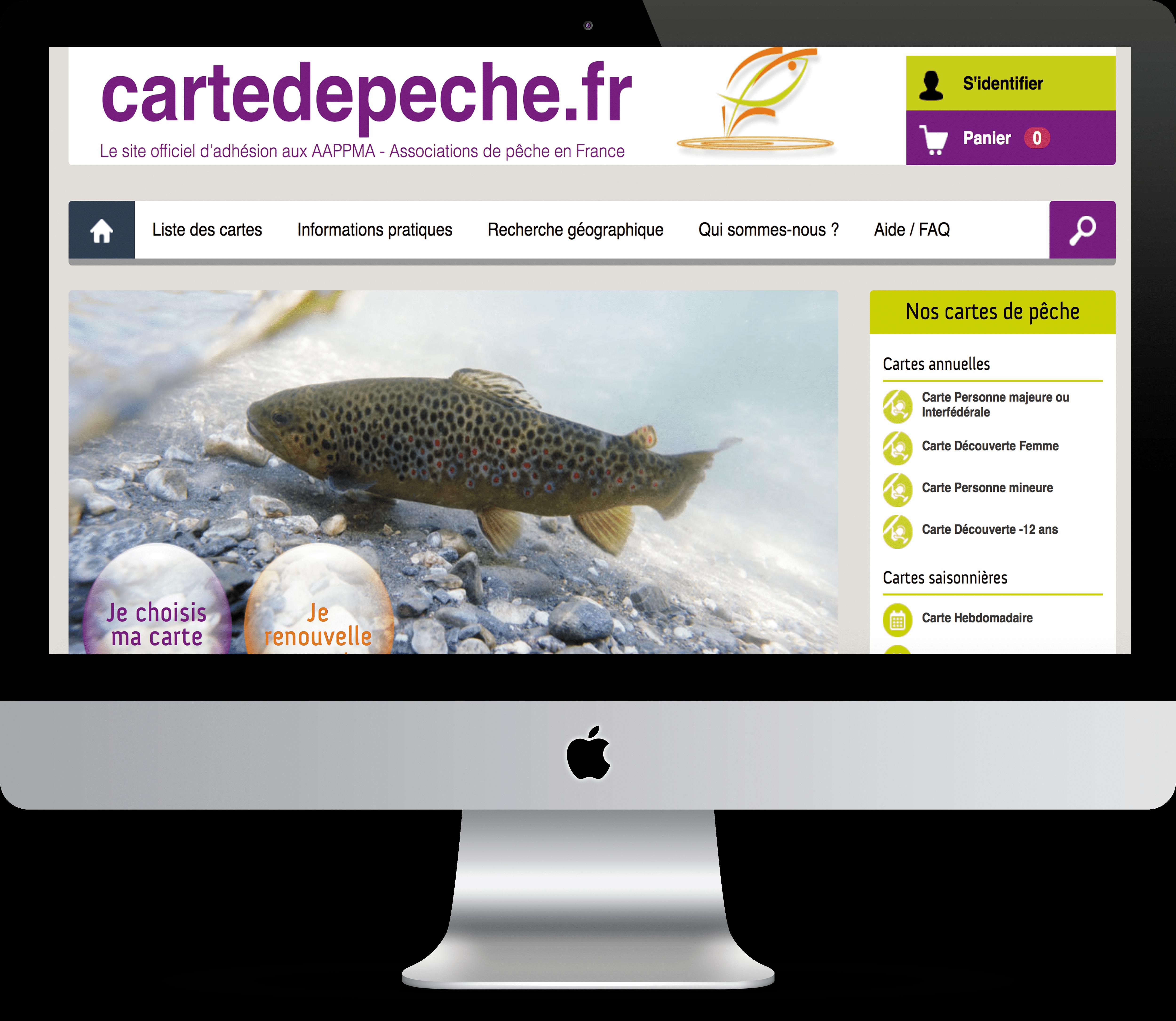 Acheter carte pêche en ligne