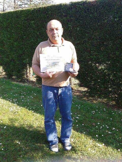 Alain Sartori médaillé d'argent