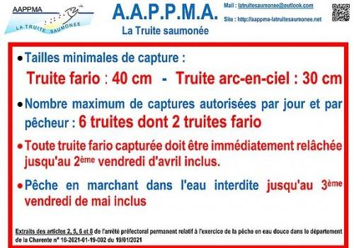 2021 Panneau reglementaire 2021 AAPPMA Touvre reduit